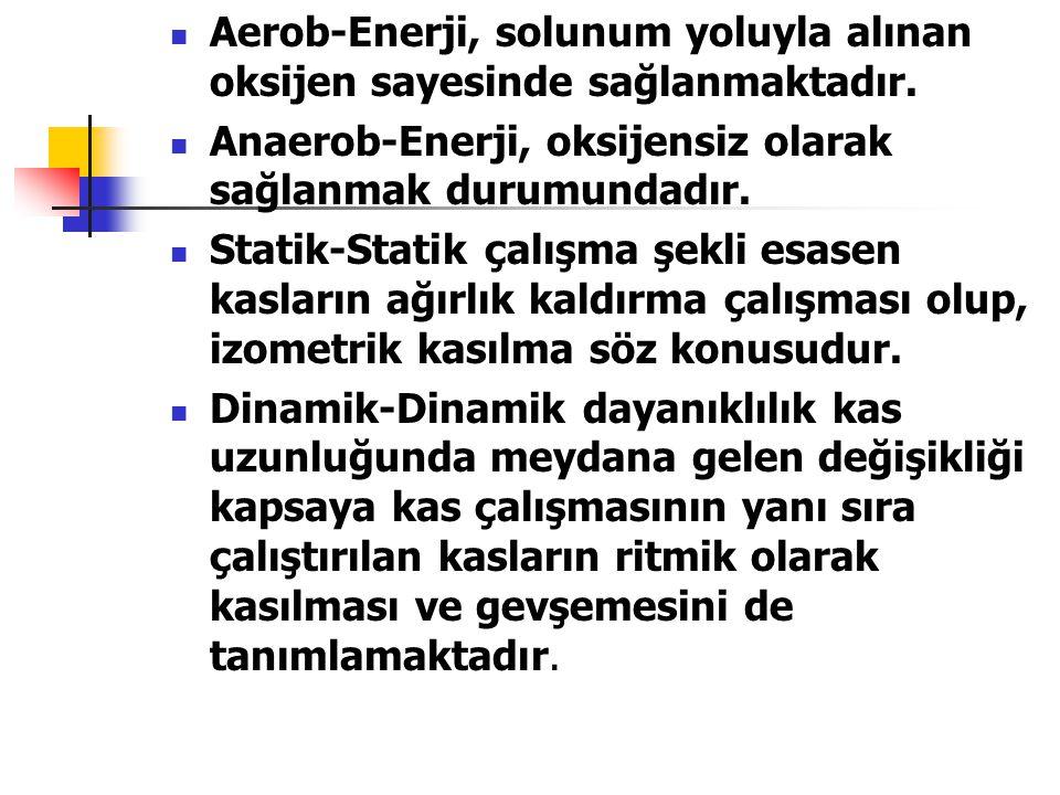 Aerob-Enerji, solunum yoluyla alınan oksijen sayesinde sağlanmaktadır.