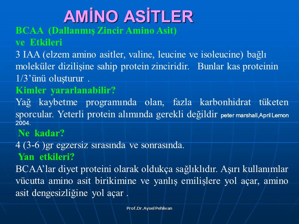 AMİNO ASİTLER BCAA (Dallanmış Zincir Amino Asit) ve Etkileri