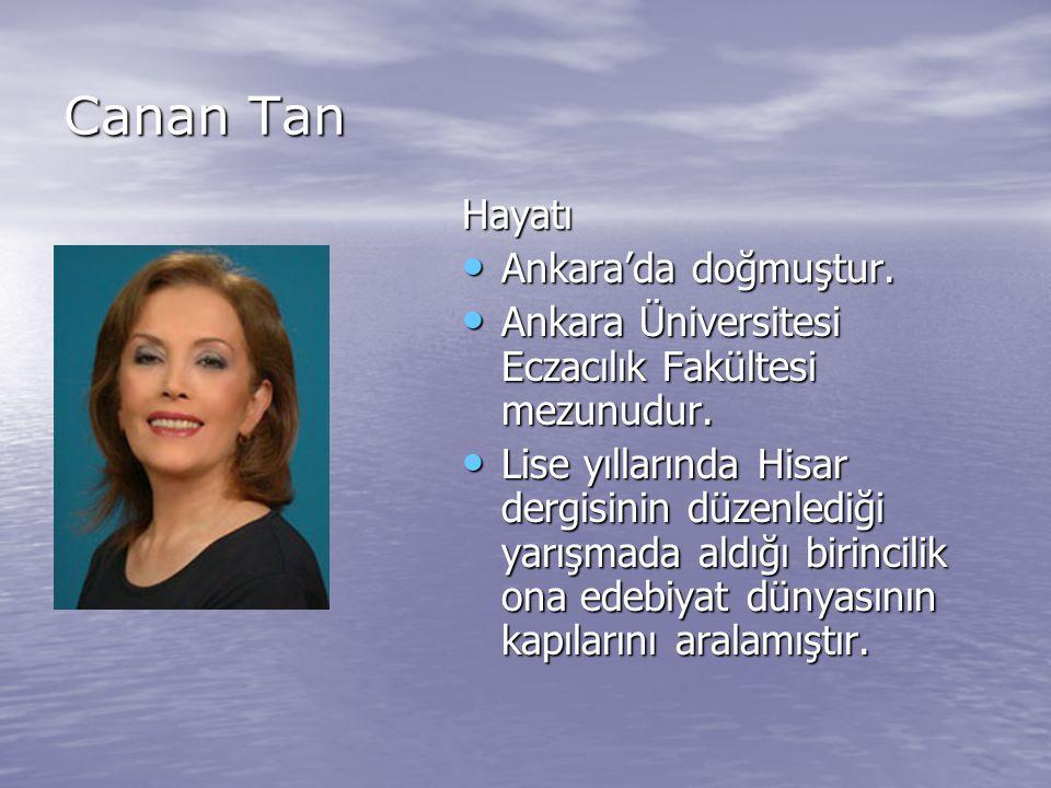 Canan Tan Hayatı Ankara'da doğmuştur.