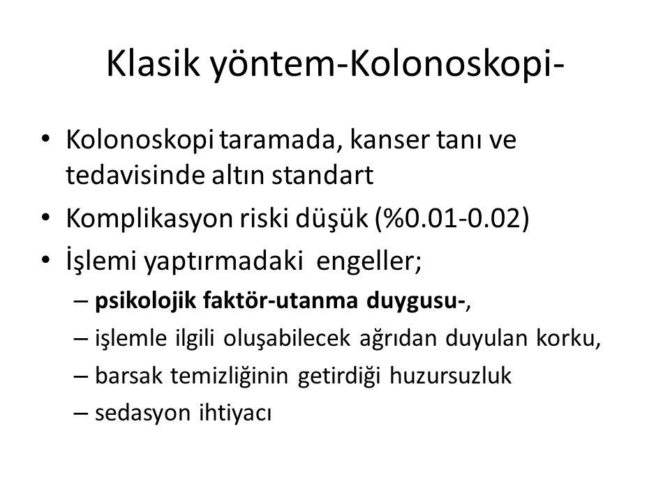 Klasik yöntem-Kolonoskopi-