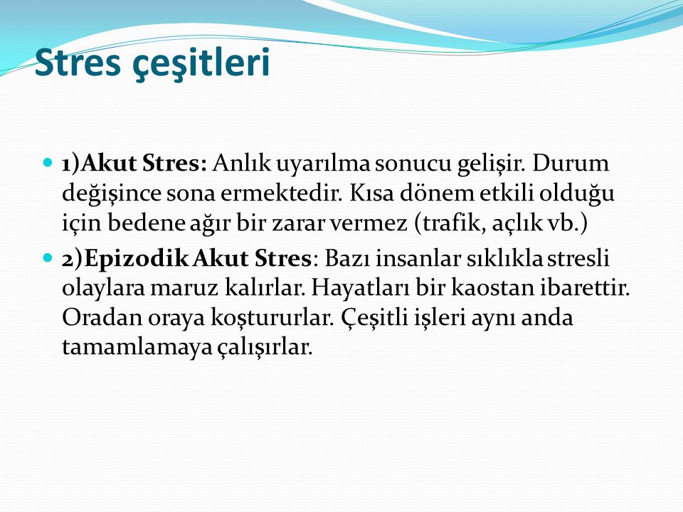 Stres çeşitleri
