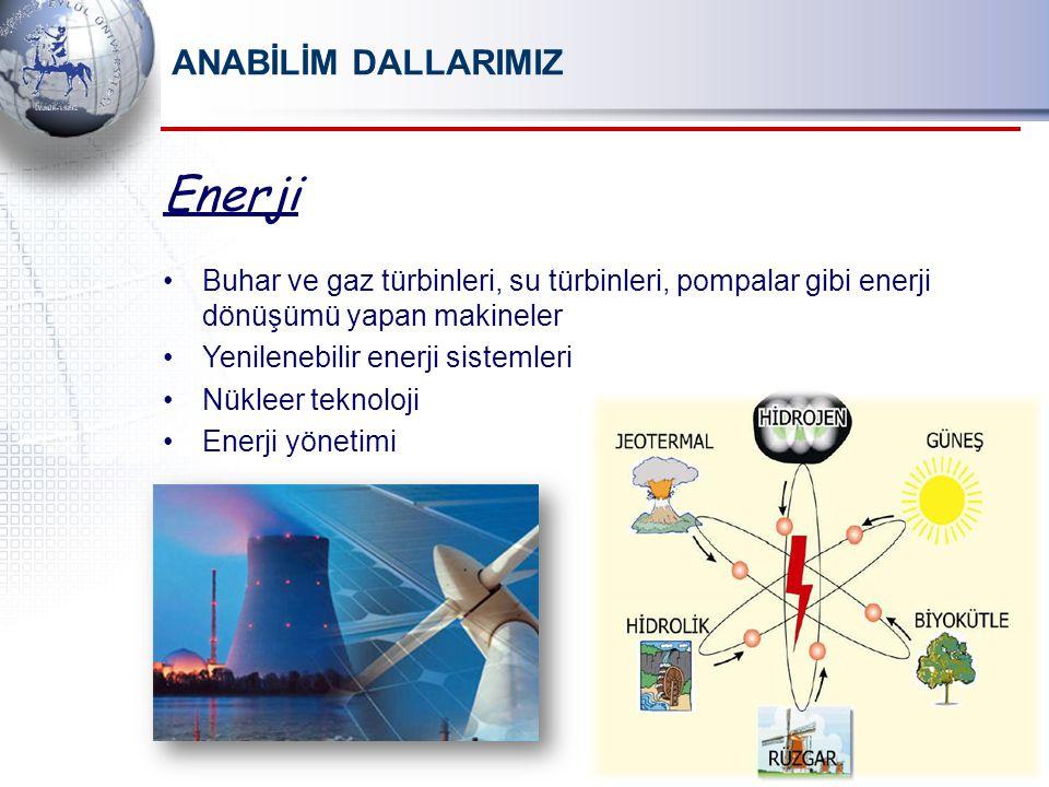 Enerji ANABİLİM DALLARIMIZ