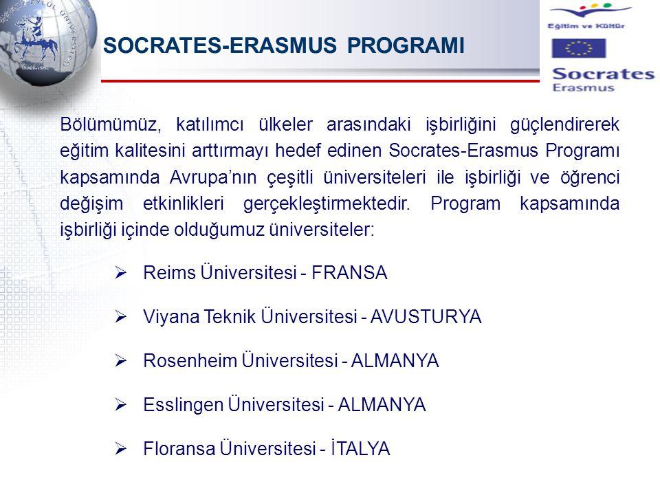 SOCRATES-ERASMUS PROGRAMI