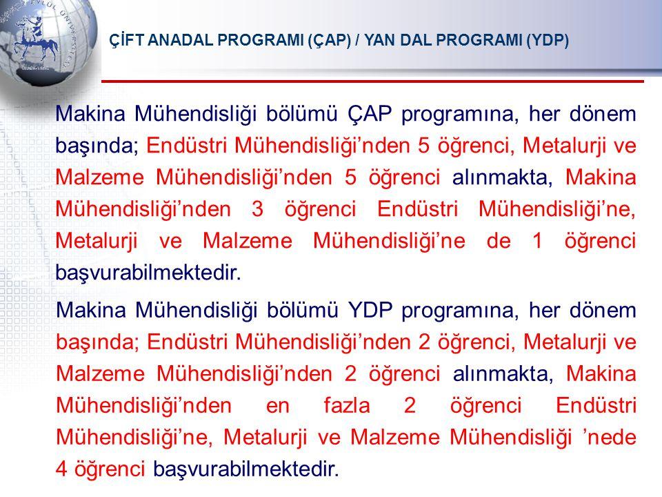 ÇİFT ANADAL PROGRAMI (ÇAP) / YAN DAL PROGRAMI (YDP)