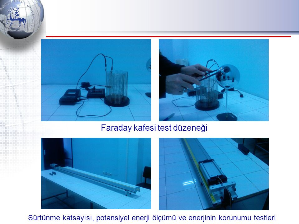 Faraday kafesi test düzeneği