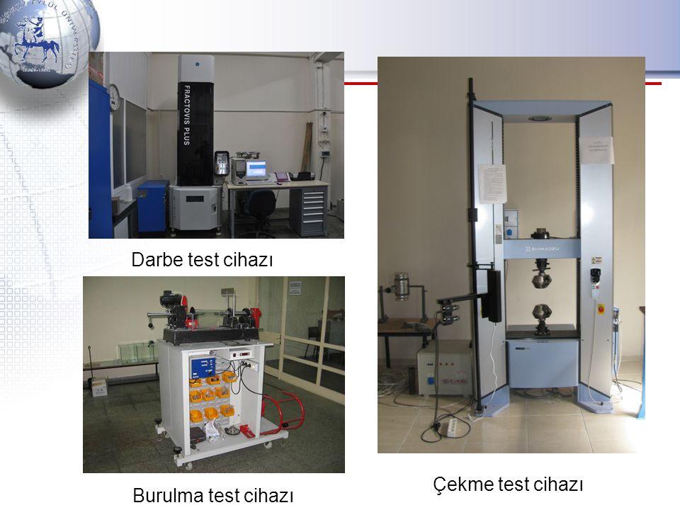 Darbe test cihazı Çekme test cihazı Burulma test cihazı