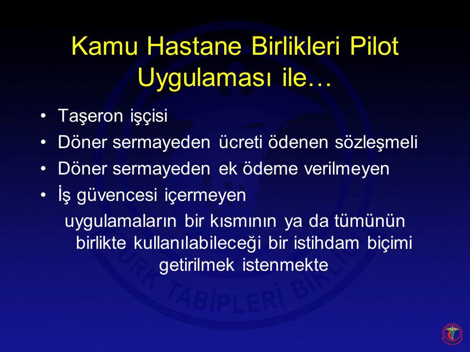Kamu Hastane Birlikleri Pilot Uygulaması ile…