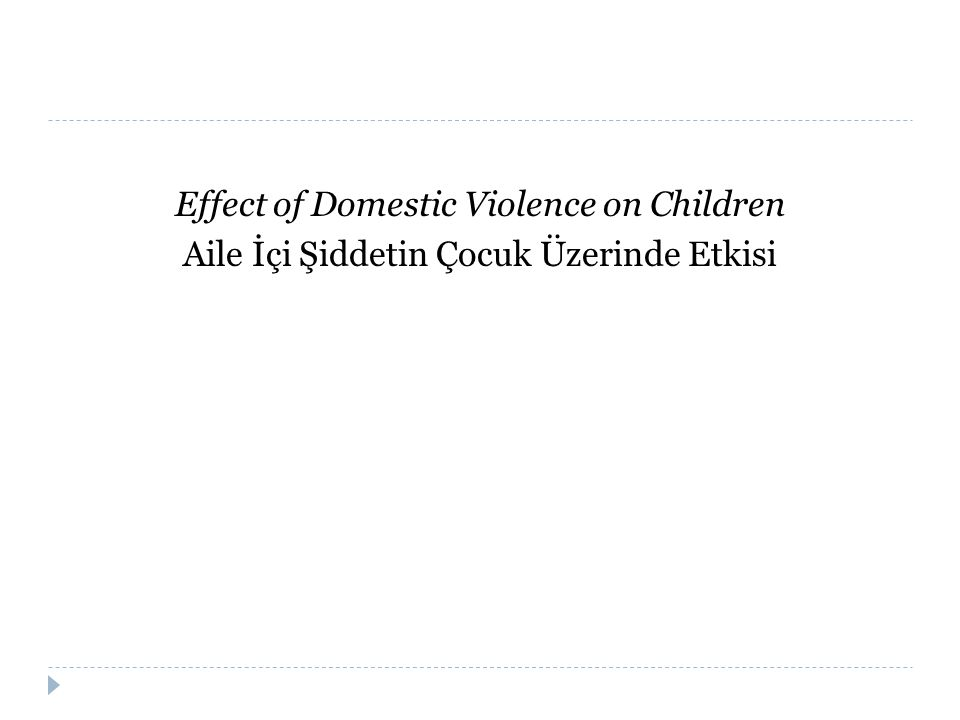 Effect of Domestic Violence on Children