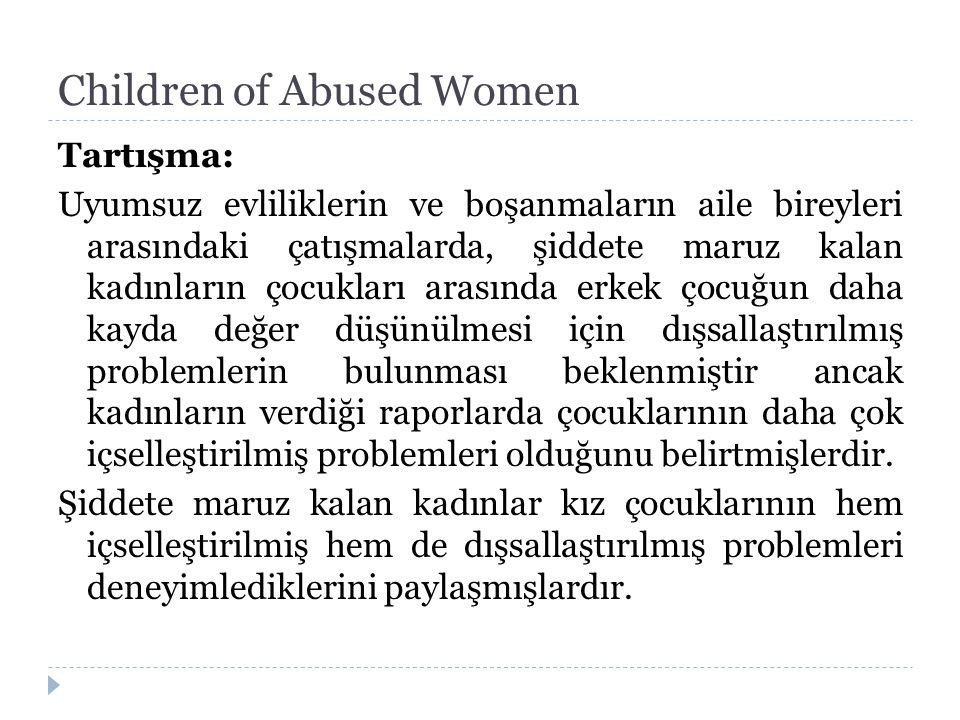 Children of Abused Women