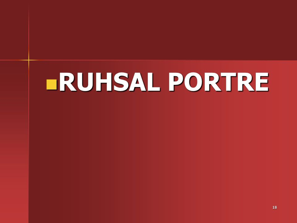 RUHSAL PORTRE