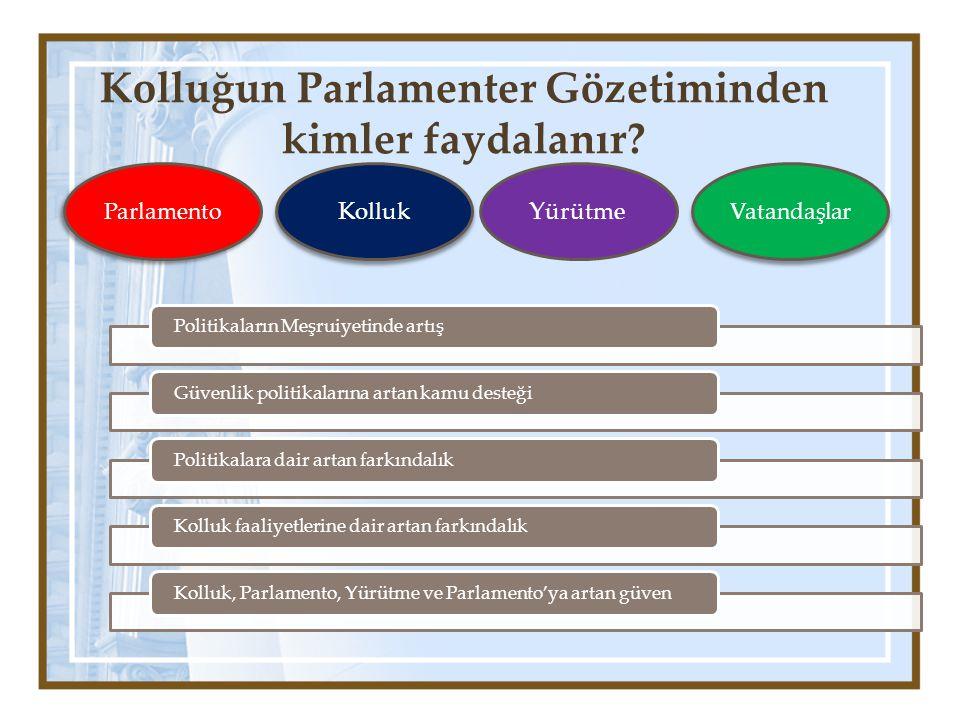 Kolluğun Parlamenter Gözetiminden kimler faydalanır
