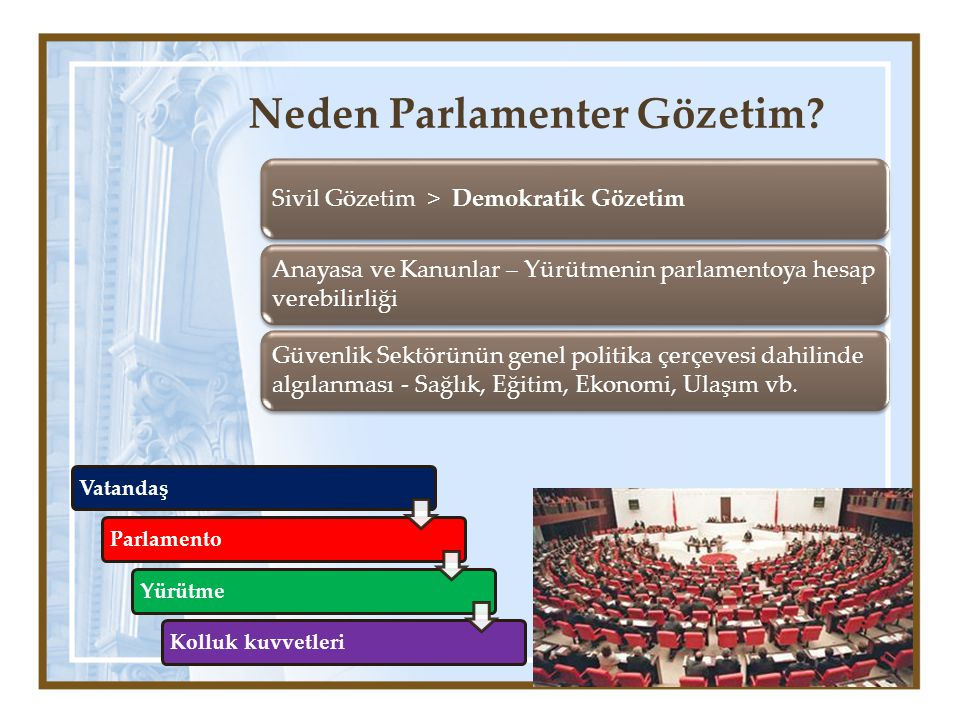 Neden Parlamenter Gözetim