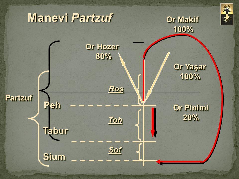 Manevi Partzuf Peh Tabur Sium Or Makif 100% Or Hozer 80% Or Yaşar 100%