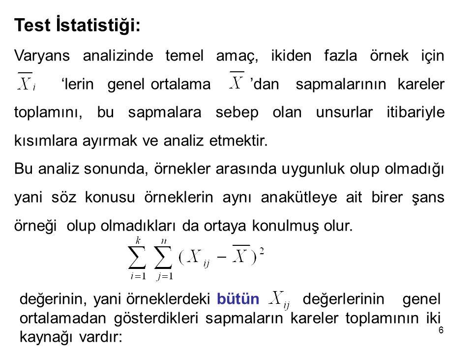 Test İstatistiği: