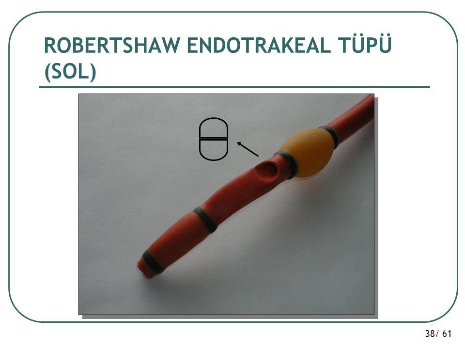 ROBERTSHAW ENDOTRAKEAL TÜPÜ (SOL)