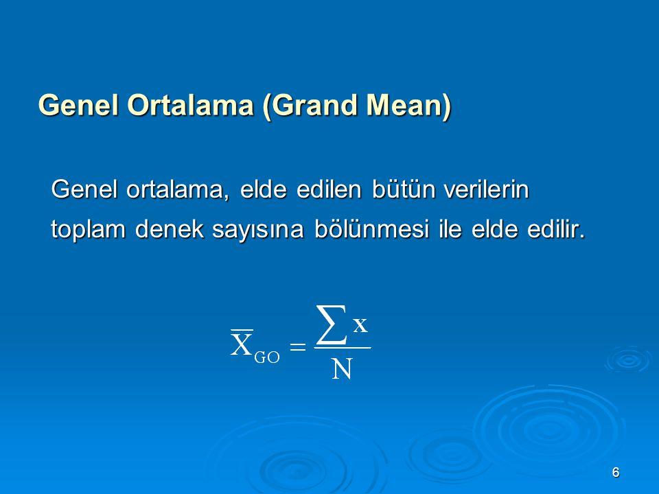 Genel Ortalama (Grand Mean)
