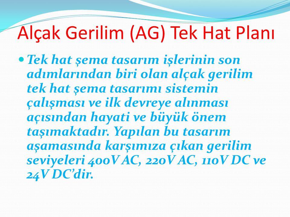 Alçak Gerilim (AG) Tek Hat Planı