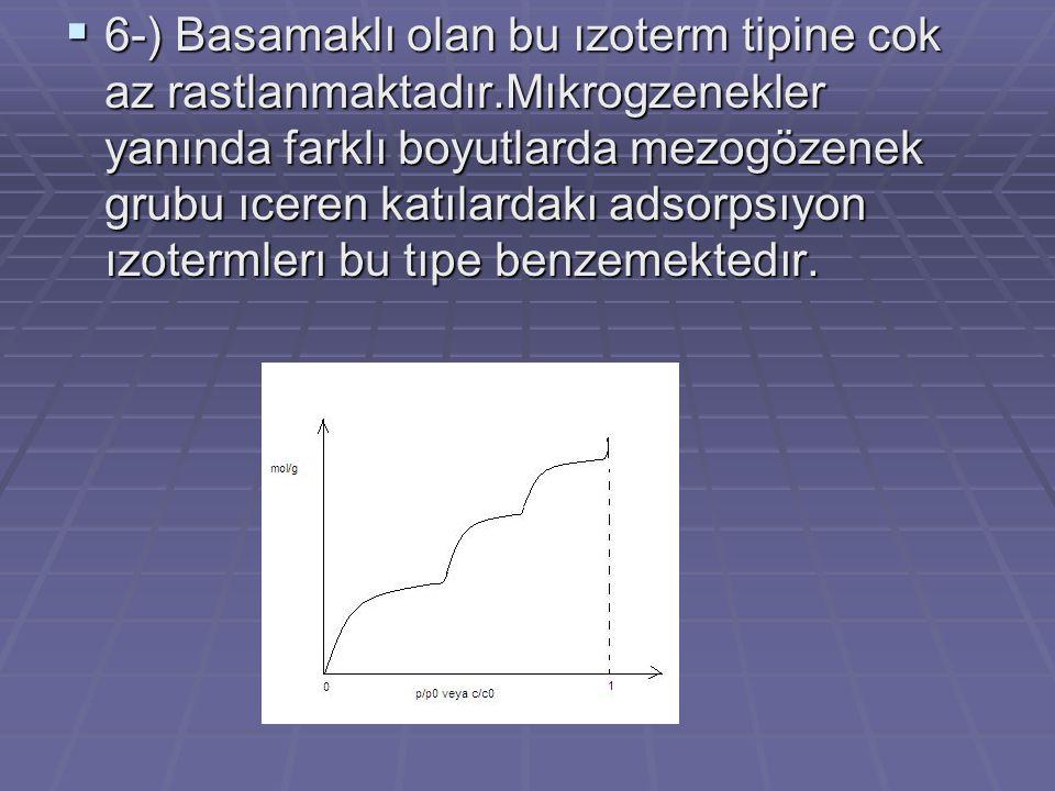6-) Basamaklı olan bu ızoterm tipine cok az rastlanmaktadır