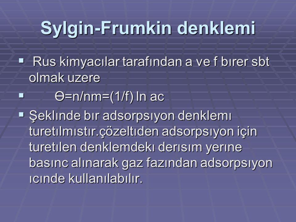 Sylgin-Frumkin denklemi