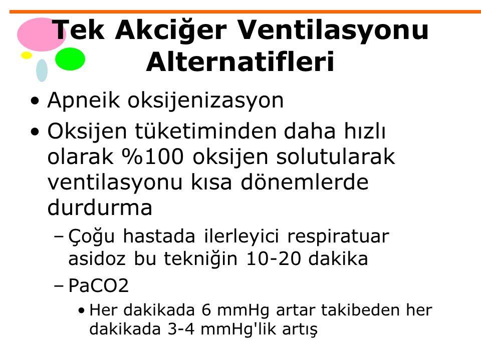 Tek Akciğer Ventilasyonu Alternatifleri