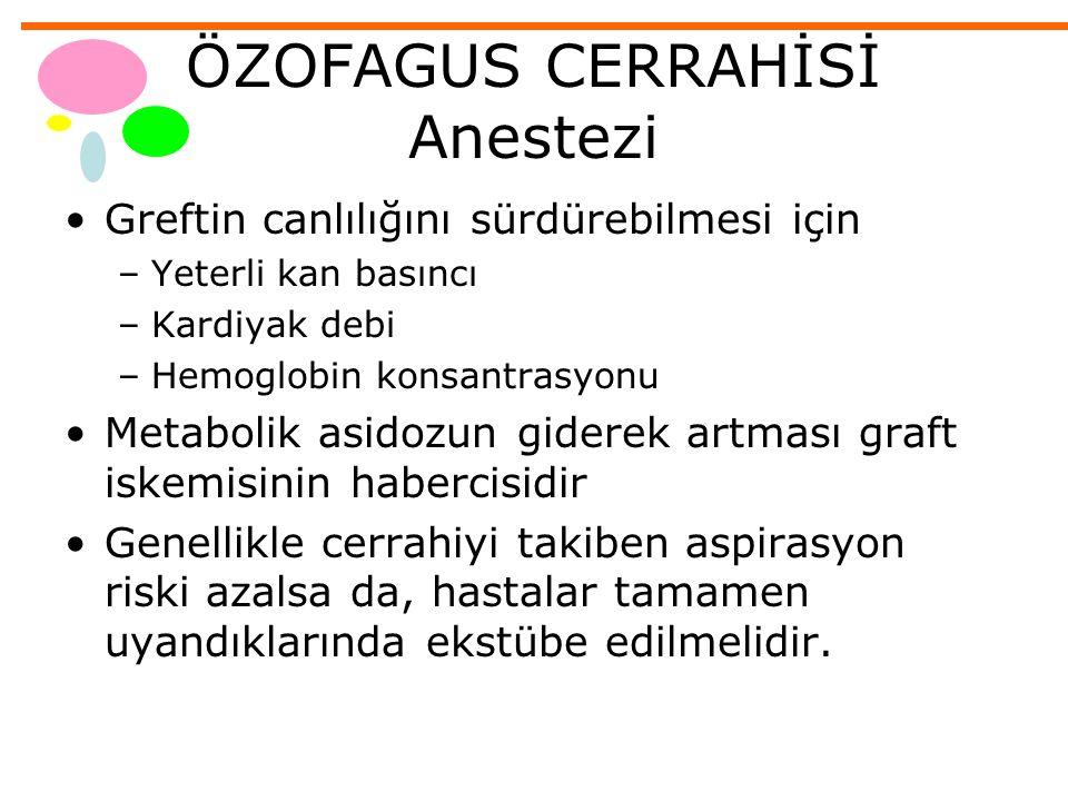 ÖZOFAGUS CERRAHİSİ Anestezi