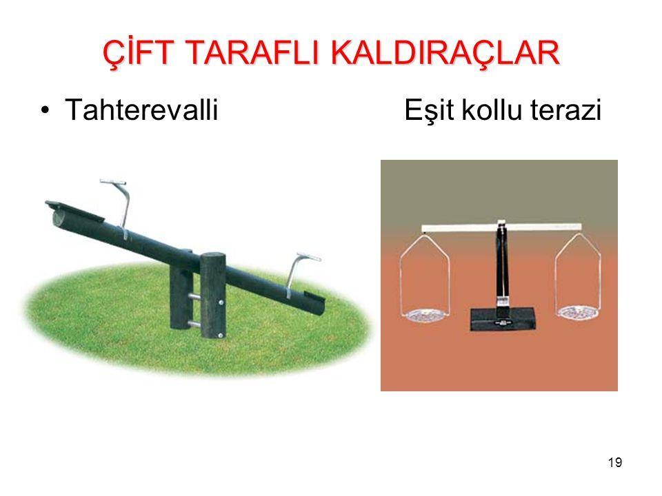 ÇİFT TARAFLI KALDIRAÇLAR
