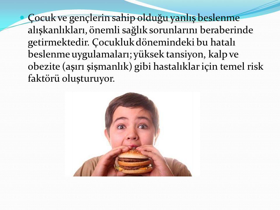 Çocuk ve gençlerin sahip olduğu yanlış beslenme alışkanlıkları, önemli sağlık sorunlarını beraberinde getirmektedir.