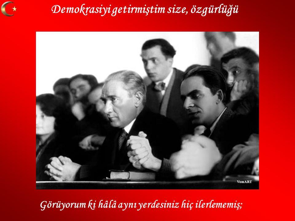 Demokrasiyi getirmiştim size, özgürlüğü