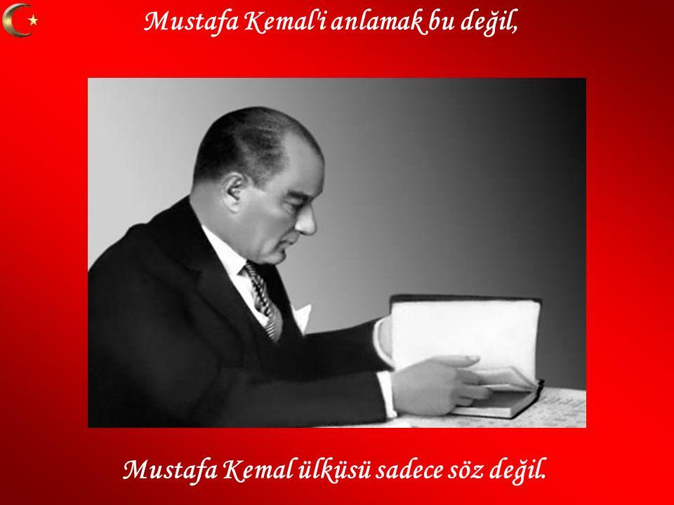 Mustafa Kemal i anlamak bu değil,
