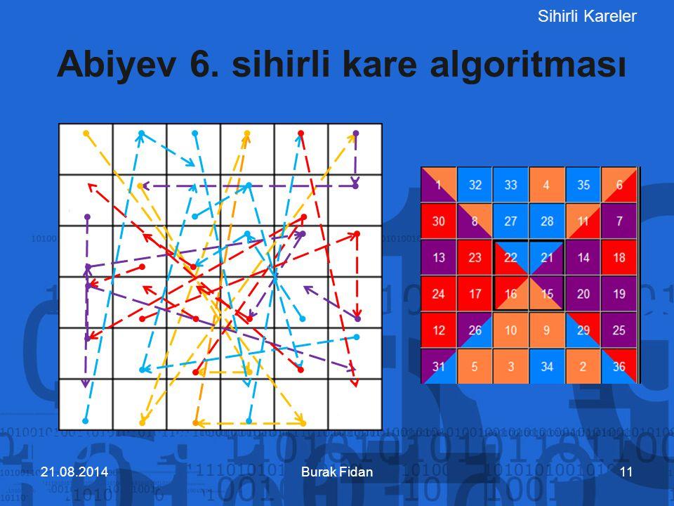 Abiyev 6. sihirli kare algoritması