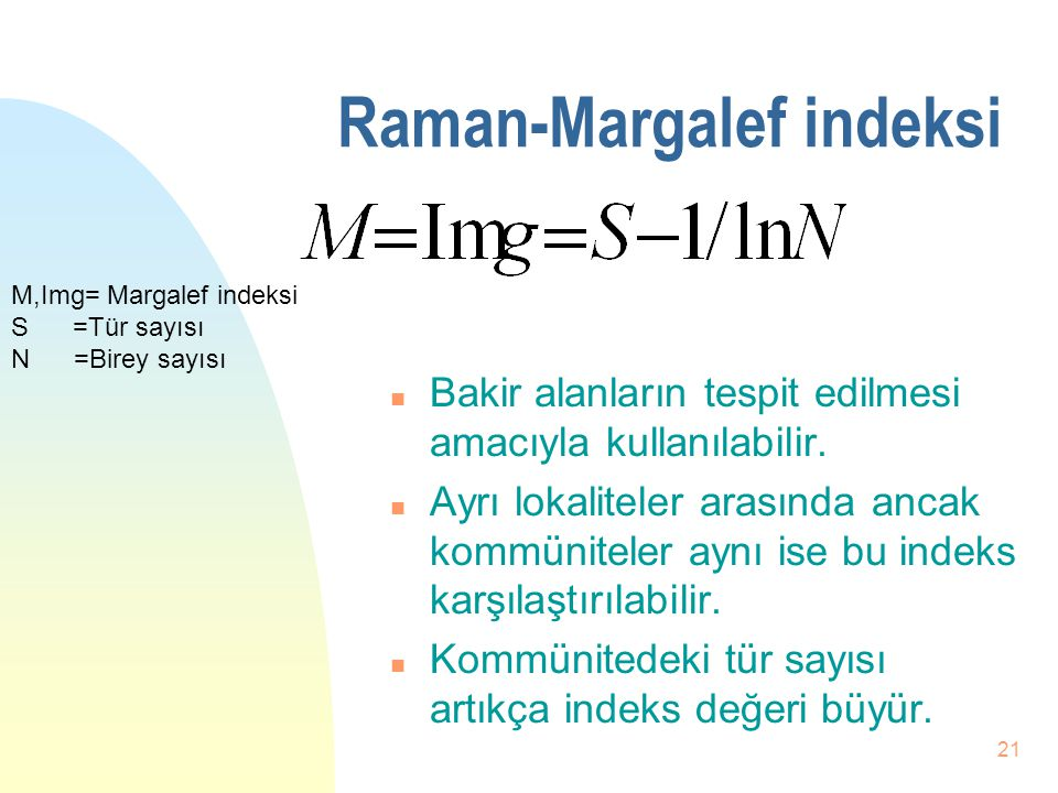 Raman-Margalef indeksi