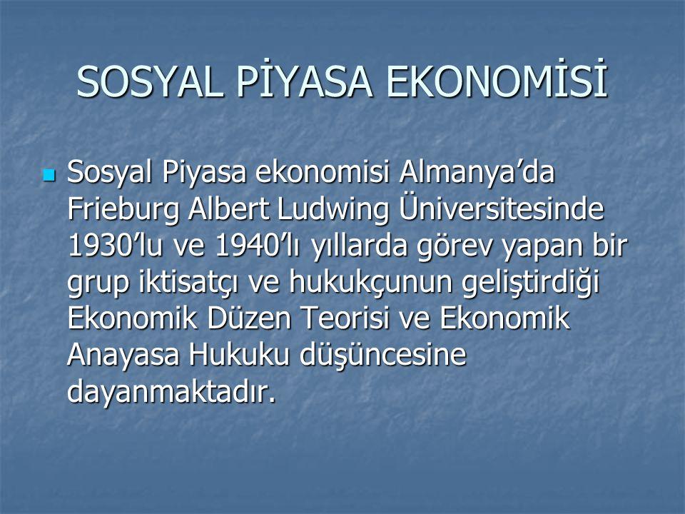 SOSYAL PİYASA EKONOMİSİ