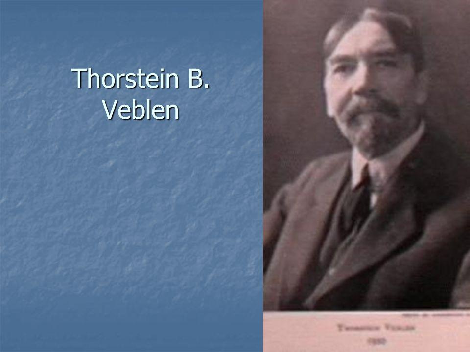 Thorstein B. Veblen