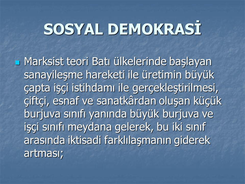 SOSYAL DEMOKRASİ