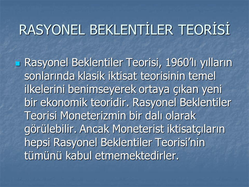 RASYONEL BEKLENTİLER TEORİSİ