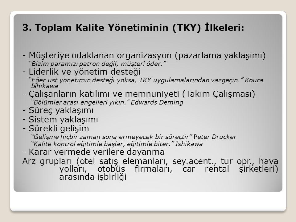 3. Toplam Kalite Yönetiminin (TKY) İlkeleri: