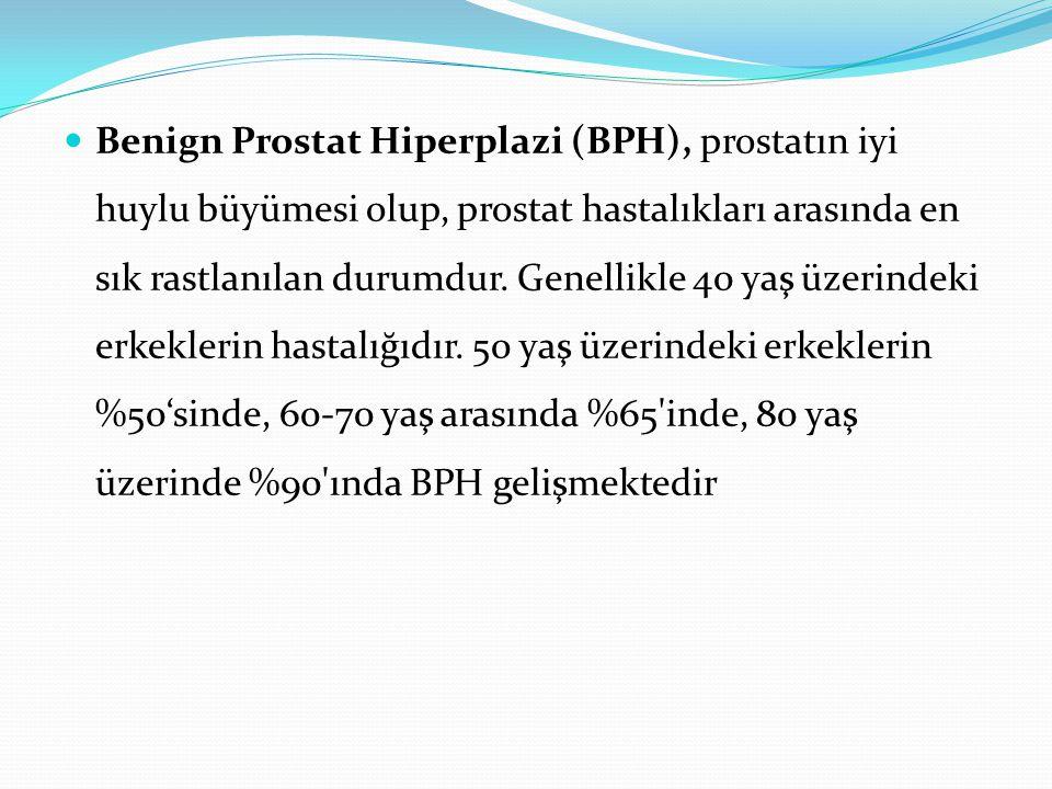 Benign Prostat Hiperplazi (BPH), prostatın iyi huylu büyümesi olup, prostat hastalıkları arasında en sık rastlanılan durumdur.