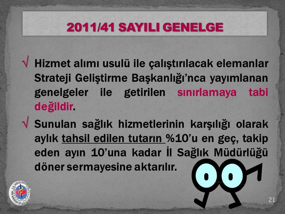 2011/41 SAYILI GENELGE