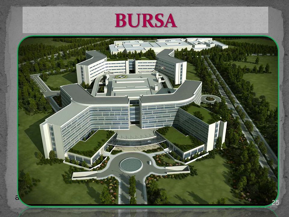 BURSA 1200 yataklı olarak planlanan sağlık kampüsünde biri eğitim araştırma olmak üzere 4 hastane yapılması planlanmaktadır.