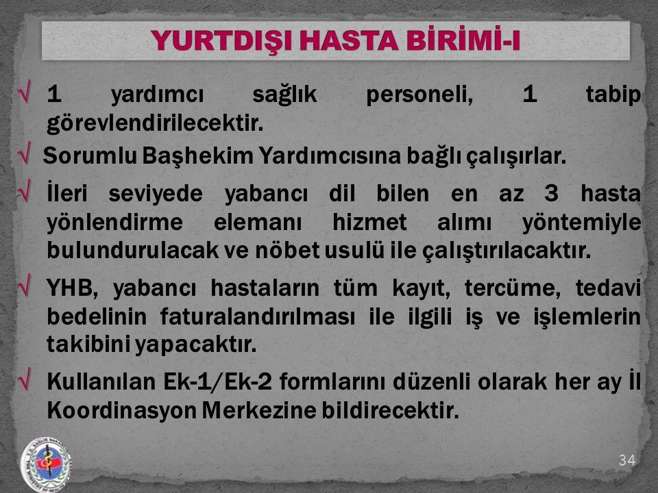 YURTDIŞI HASTA BİRİMİ-I