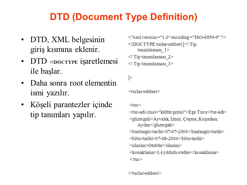 DTD (Document Type Definition)