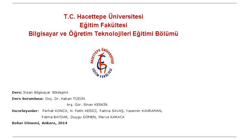 T.C. Hacettepe Üniversitesi Eğitim Fakültesi