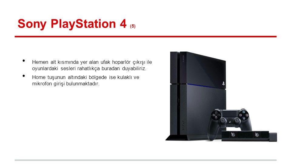 Sony PlayStation 4 (5) Hemen alt kısmında yer alan ufak hoparlör çıkışı ile oyunlardaki sesleri rahatlıkça buradan duyabiliriz.