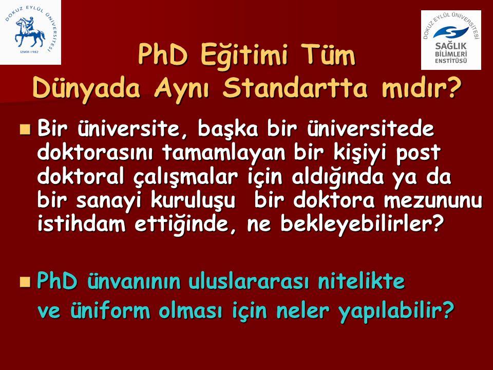 PhD Eğitimi Tüm Dünyada Aynı Standartta mıdır