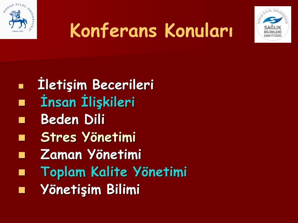Konferans Konuları İnsan İlişkileri Beden Dili Stres Yönetimi