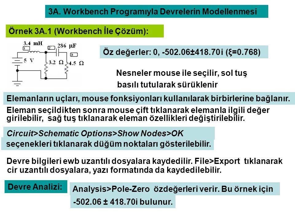 3A. Workbench Programıyla Devrelerin Modellenmesi
