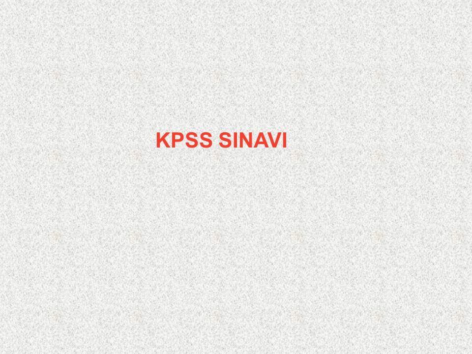 KPSS SINAVI