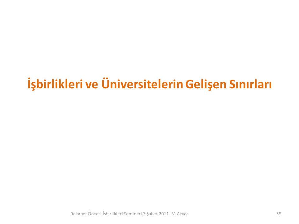 İşbirlikleri ve Üniversitelerin Gelişen Sınırları