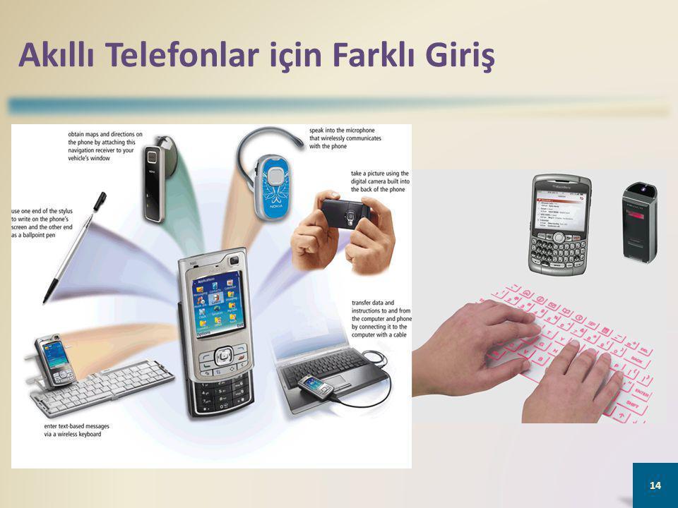 Akıllı Telefonlar için Farklı Giriş