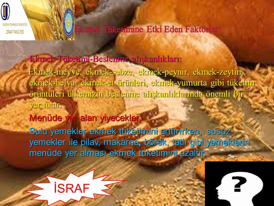 Ekmek Tüketimine Etki Eden Faktörler